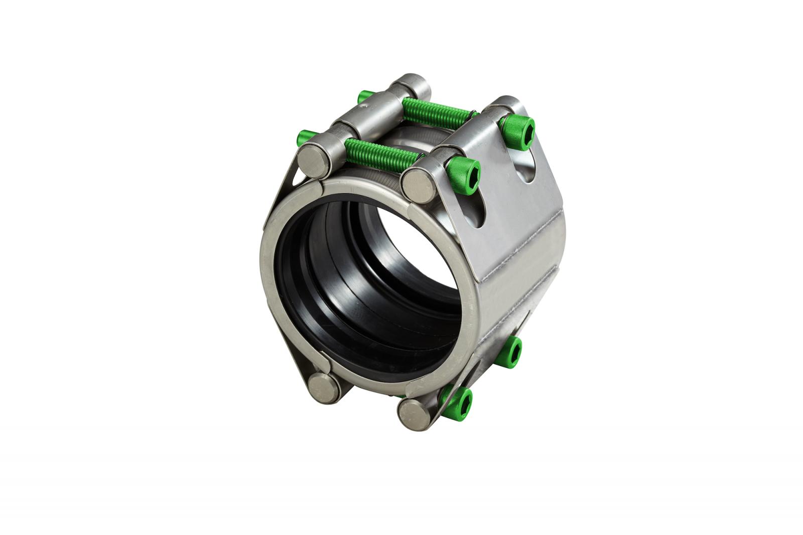 Repair coupling with two locks high pressure (RSDF)   AVK Repico   AVK Rewag