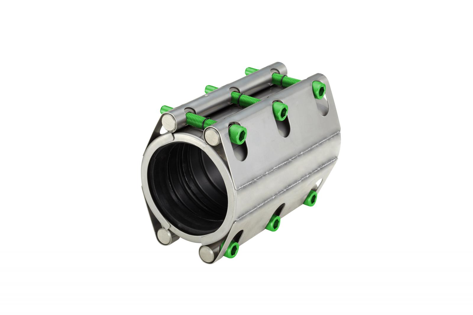 Repair coupling with two locks long version high pressure (RSDFL) | AVK Repico | AVK Rewag